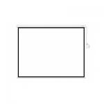 Экран моторизированный (с пультом Д/У), Deluxe, DLS-ERC350x270W, Настенный/потолочный, Рабочая поверхность 342x262, 16:9, Matt white, Белый