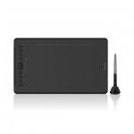 """Графический планшет, Huion, H1161, Разрешение 5080 lpi, Чувствительность к нажатию 8192, Интерфейс USB и USB-C, Рабочая область 279.4174.6 мм. (11""""х 6.875""""), Чёрный"""