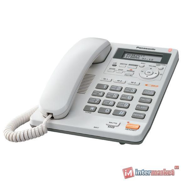 Проводной телефон PANASONIC KX-TS 2570CAW, Белый