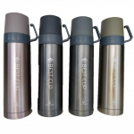 Термос питьевой 450мл 2х чашки (4цв) (YN074)
